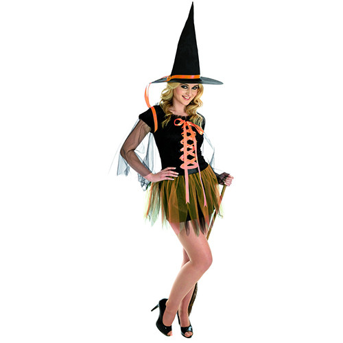 1211 Orange Ribbon Witch