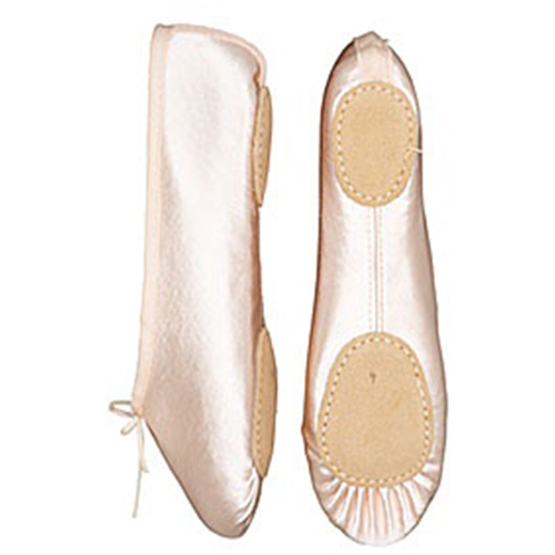 1535c627bd0f Starlite Girl s Split Sole Pink Satin Ballet Shoes