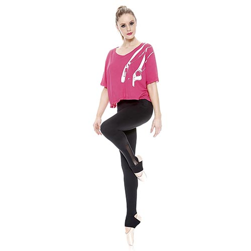 28a500439e So Danca Girl s E 11132 T-Shirt Pointe Shoe Design