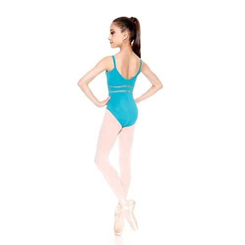 656778dcb532 So Danca RDE 1651 Girl s Thin Strap Dance Leotard with floral lace ...