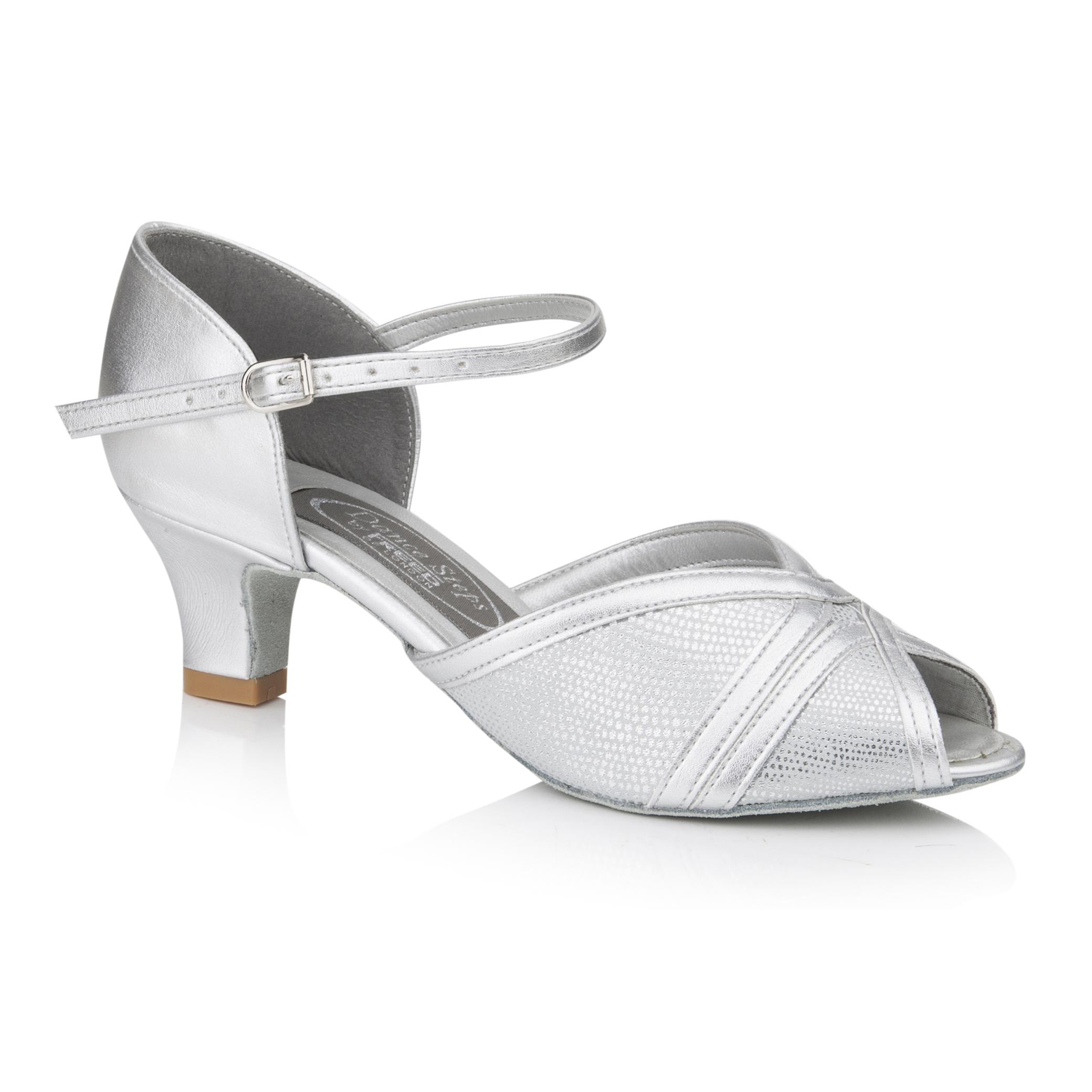 5eb9b859a Freed of London Amethyst Silver Dance Shoes 1 5/8″Heel