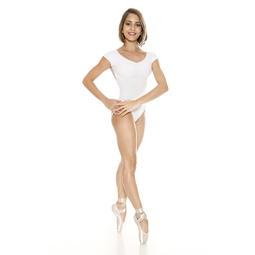 9ab29bb9204 So Danca RDE-1558 Shaped Necked Dance Leotard with Padded Bra