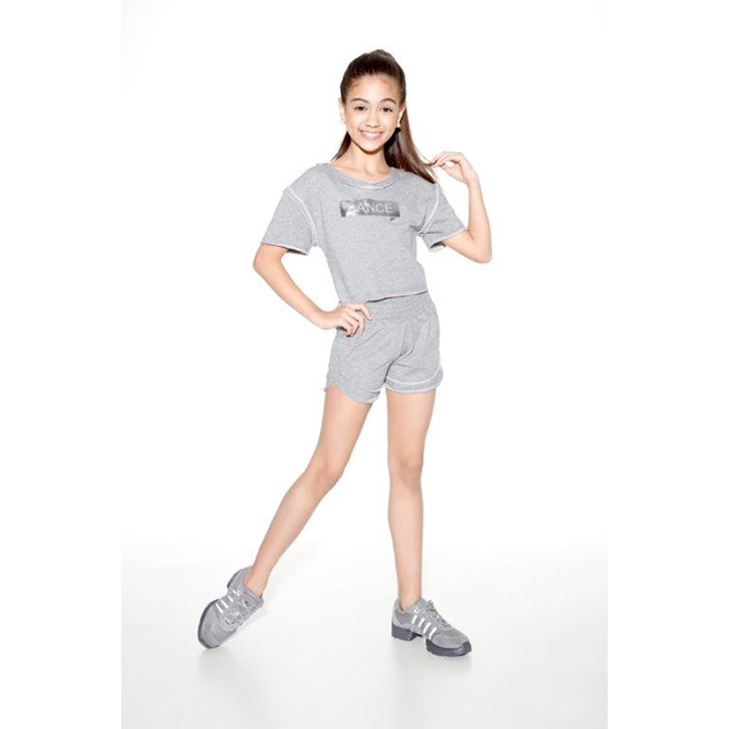 63a0439b71 So Danca Girl s RDE 1744 Light Grey Fleece T-Shirt