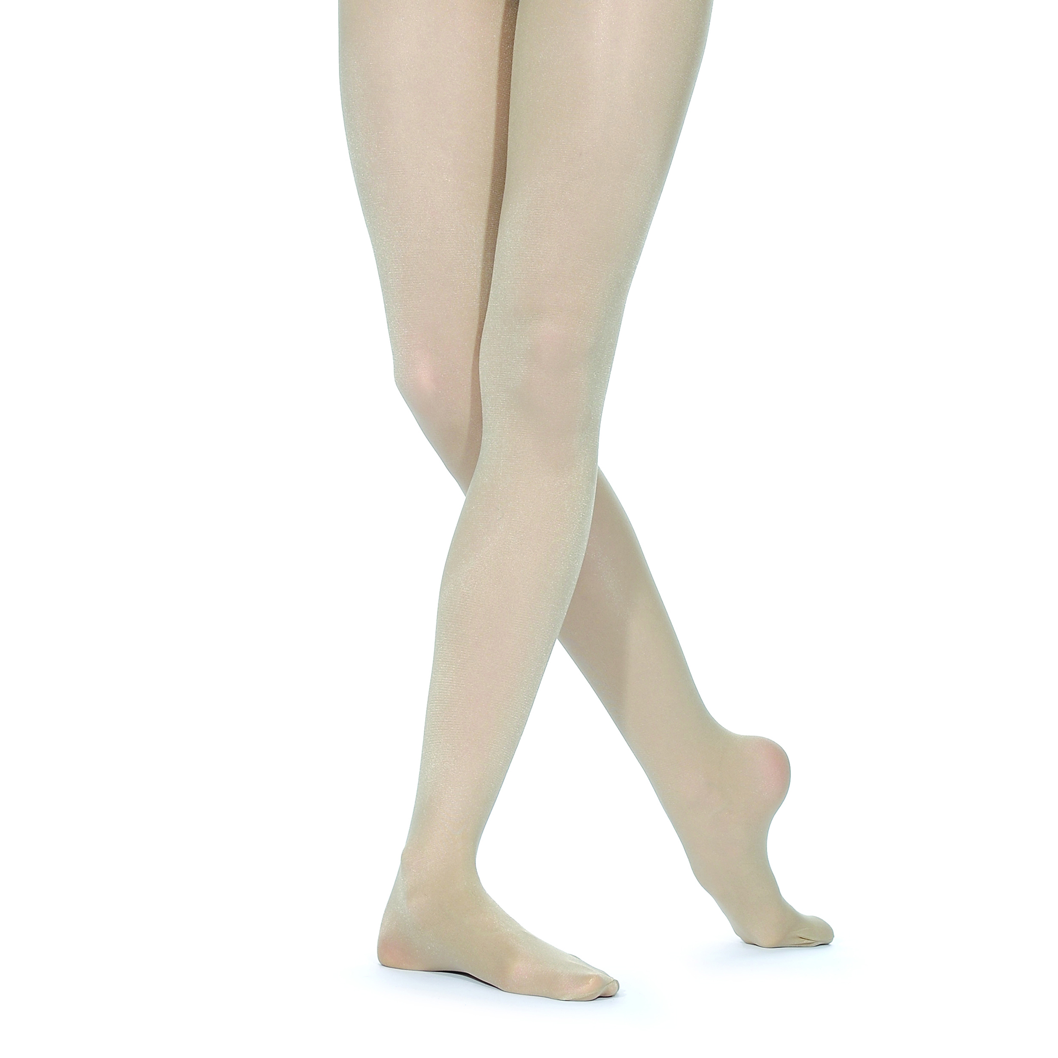 f4ac30b7fccbd Silky Shimmer Footed Ballet Dance Tights Light Toast | World of Dance UK